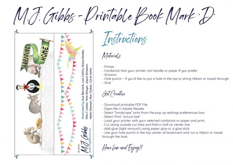 Free Printable Bookmark, Bookmark D