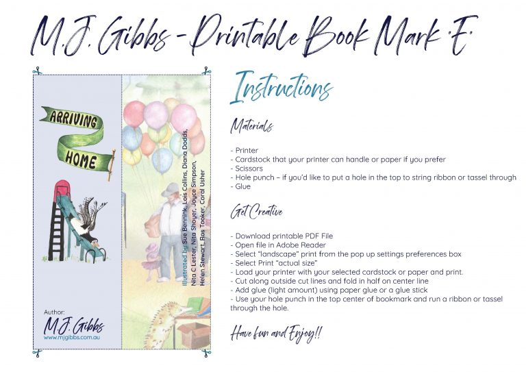 Free Printable Bookmark - Bookmark E